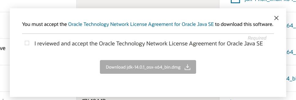 Java 14 - Mac - License