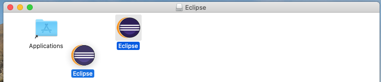 Eclipse for Java - Mac - Drag