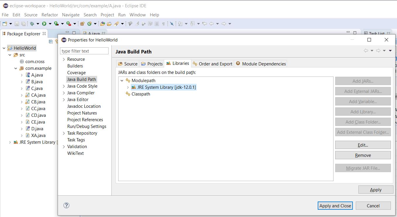 Eclipse - Java - Project JRE
