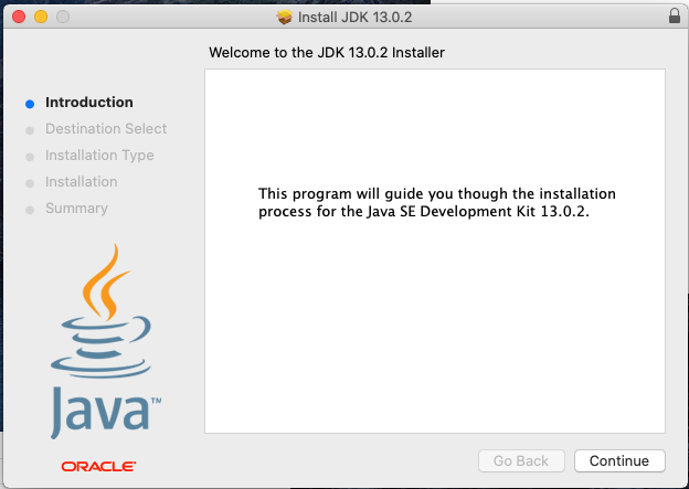 Java 13 - Mac - Install - Welcome