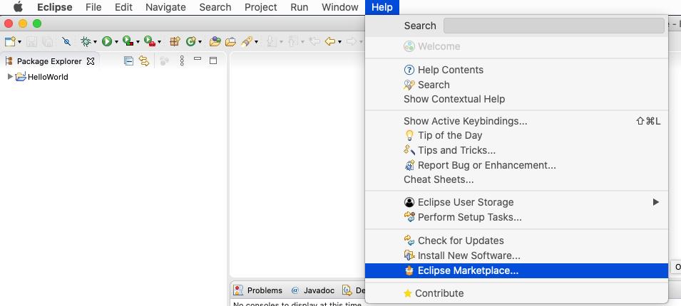 JavaFX - Eclipse - Marketplace