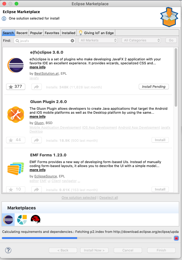 JavaFX - Eclipse - Install