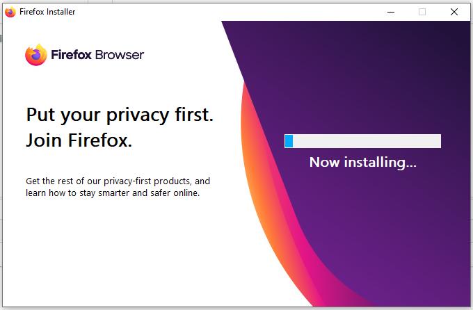 Mozilla Firefox - Windows - Progress