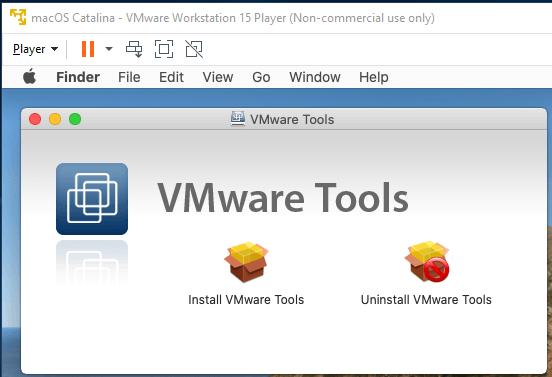 macOS - VMware - Tools