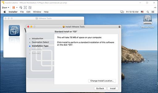 VMware Tools - Mac - Install Type