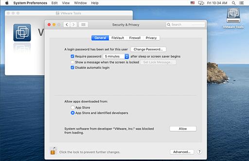 VMware Tools - Mac - Permission