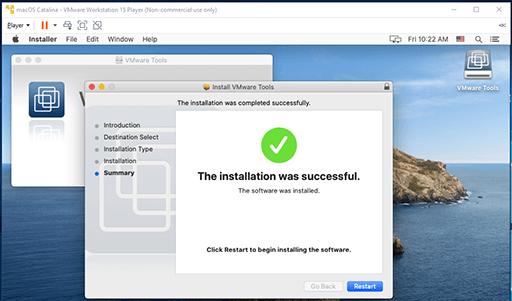 VMware Tools - Mac - Installed