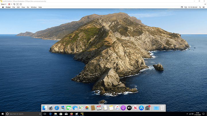 VMware Tools - Mac - Maximized Screen