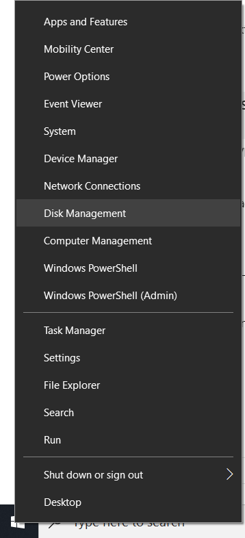 Windows 10 Bootable USB - Disk Management