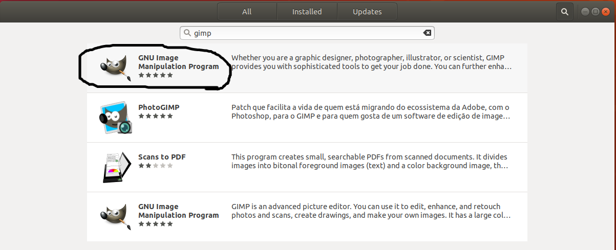 GIMP on Ubuntu - Ubuntu Software