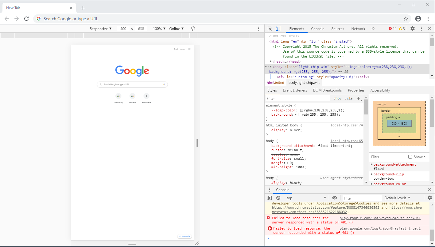 Chrome Full Page Screen Capture - Developer Tools