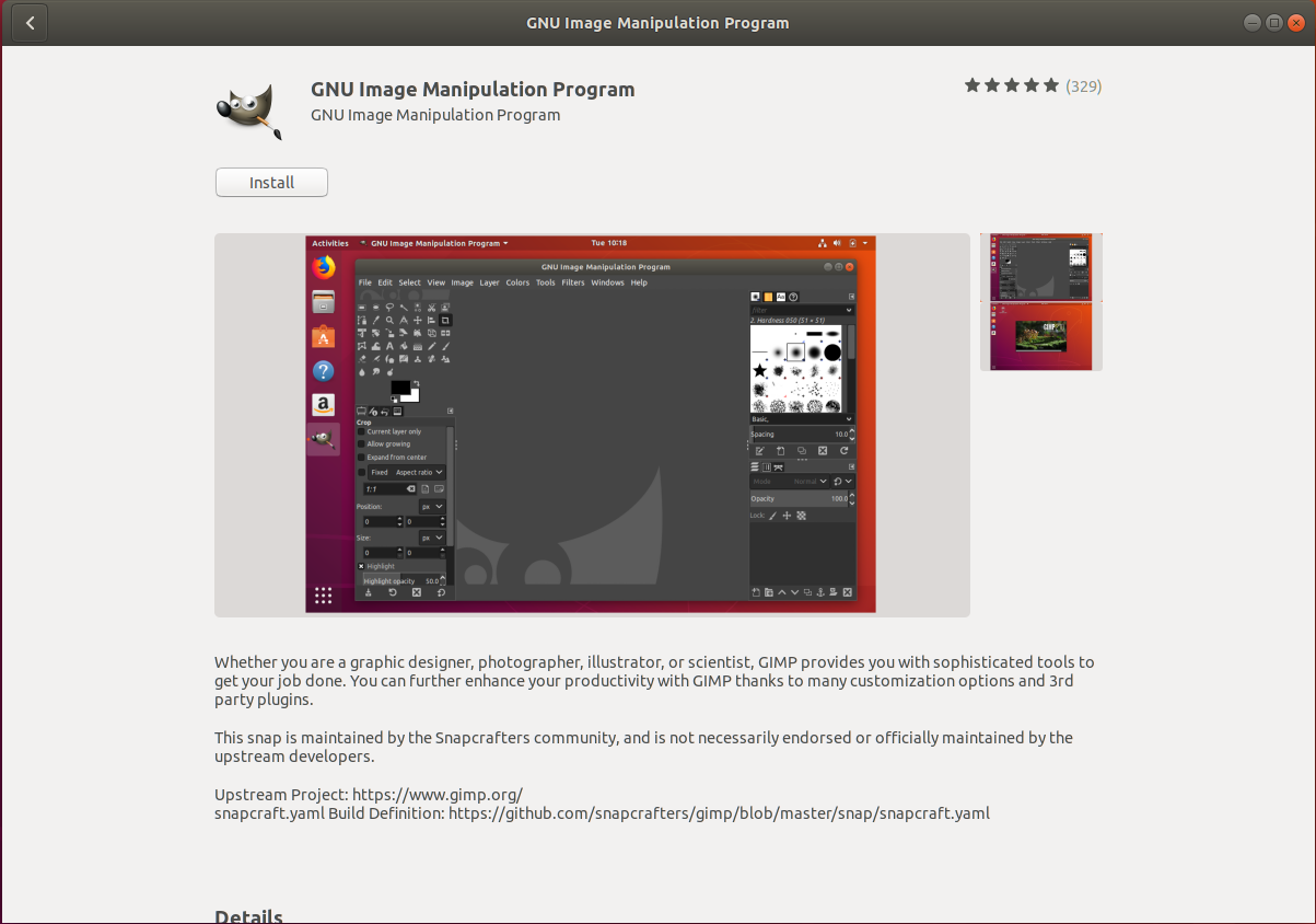 GIMP on Ubuntu - Installer