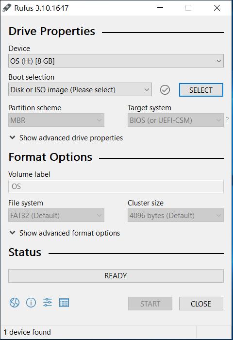 Bootable USB - Ubuntu 20.04 LTS - Rufus