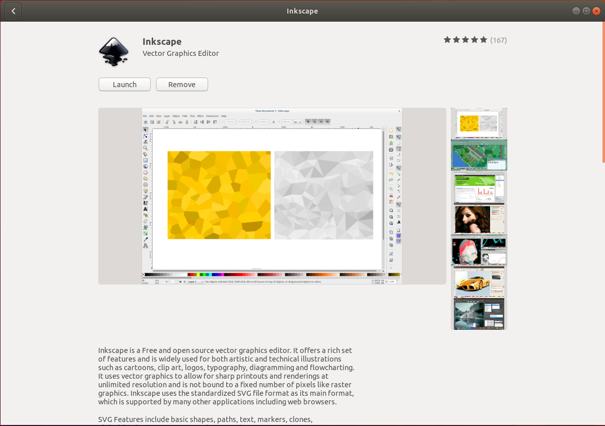 Inkscape On Ubuntu - Installed