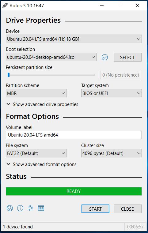 Bootable USB - Ubuntu 20.04 LTS - Complete