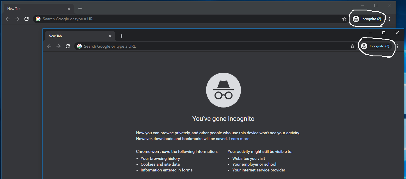 Incognito In Google Chrome - Multiple Incognito Windows