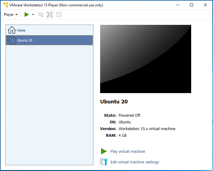Ubuntu 20.04 LTS on Windows using VMware - Virtual Machine Library