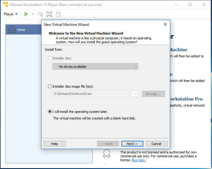 Ubuntu 20.04 LTS on Windows using VMware - Virtual Machine Options