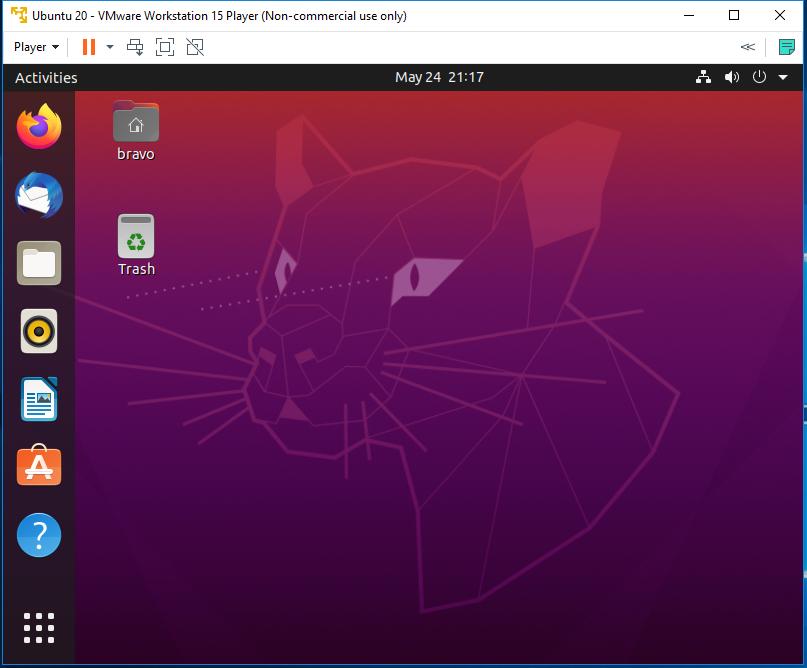 Ubuntu 20.04 LTS on Windows using VMware - Desktop