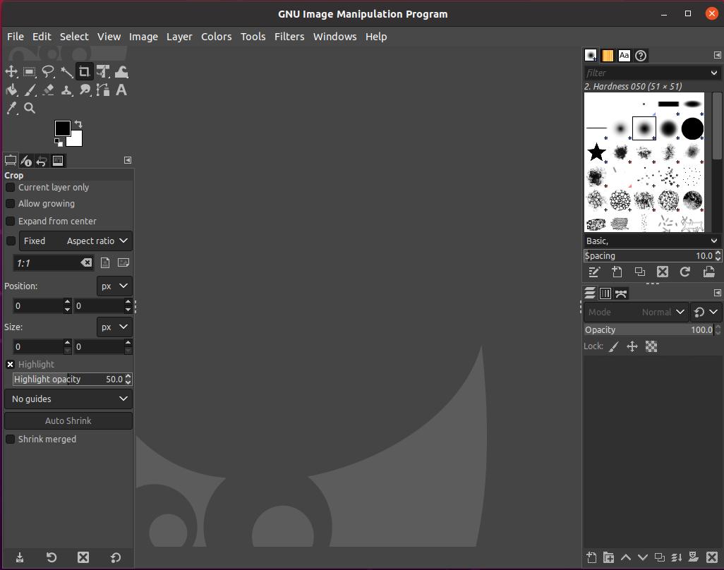Install GIMP On Ubuntu 20.04 - Default