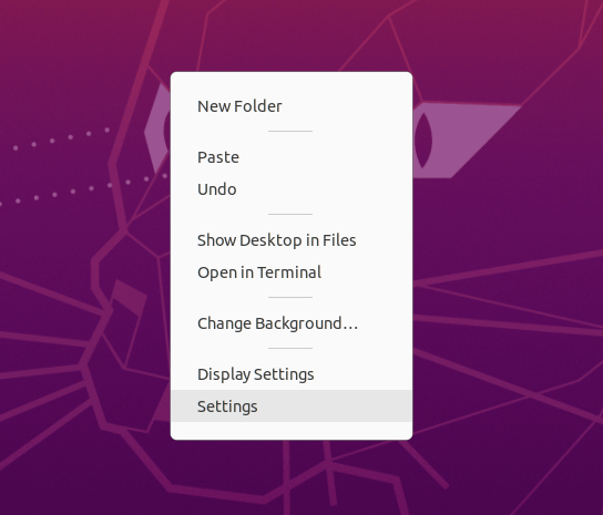 Change Background - Ubuntu 20.04 - Settings