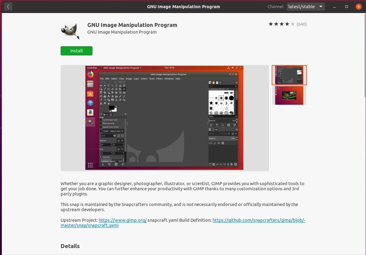 Install GIMP On Ubuntu 20.04 - Install