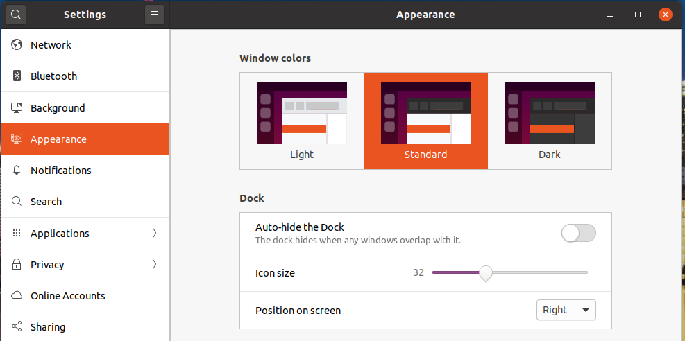 Icons Size and Position - Ubuntu 20.04 LTS - Change Icon Position To Right
