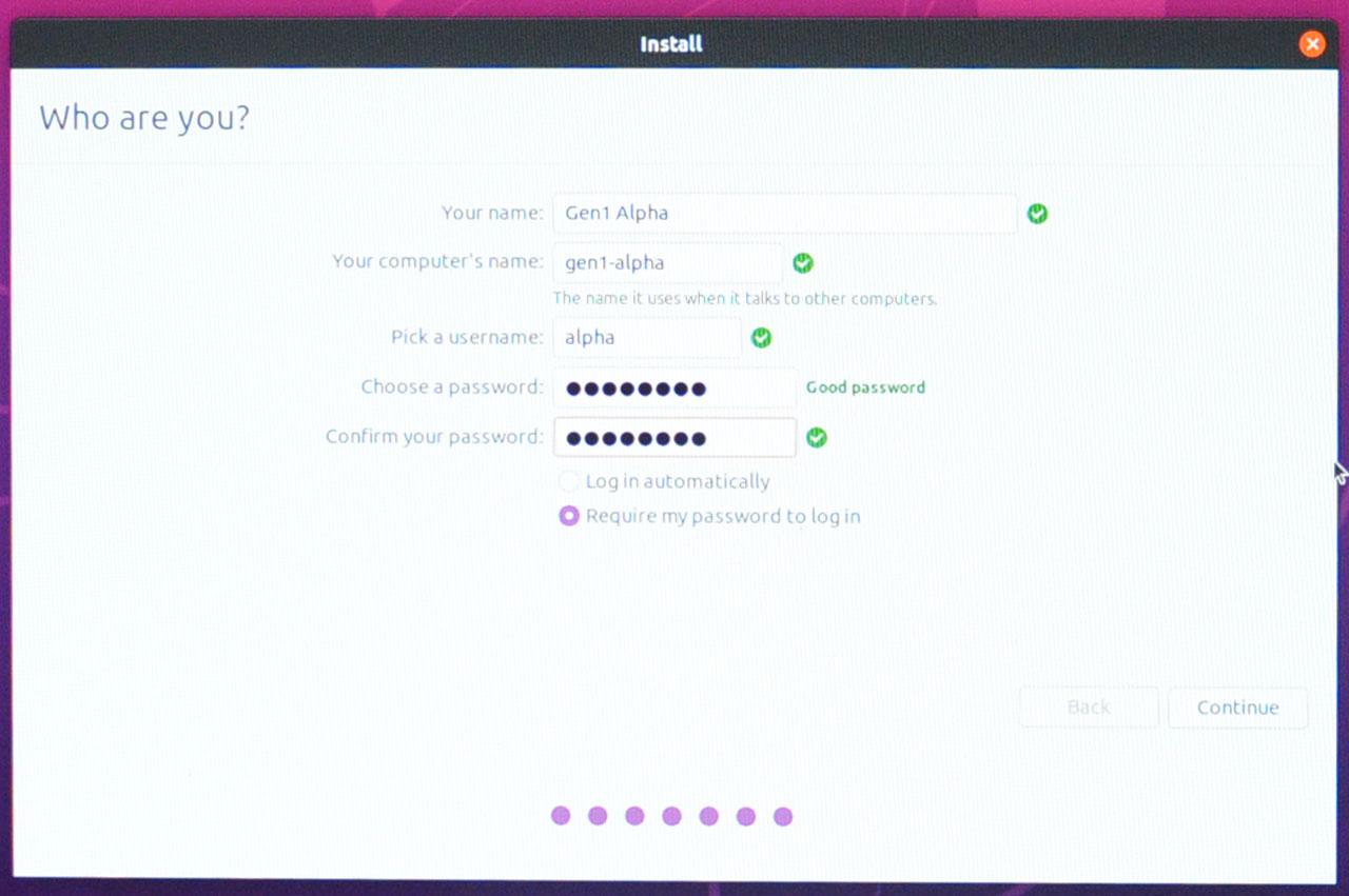 Install Ubuntu 20.04 LTS - User