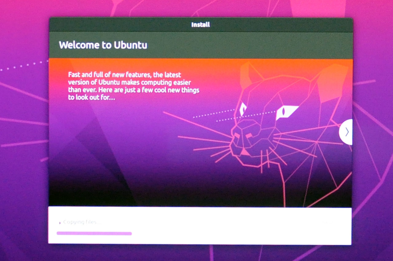 Install Ubuntu 20.04 LTS - Installation Progress