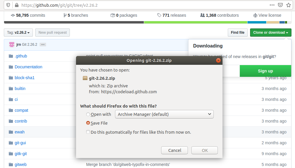 Install Git From Source On Ubuntu 18.04 LTS - Save