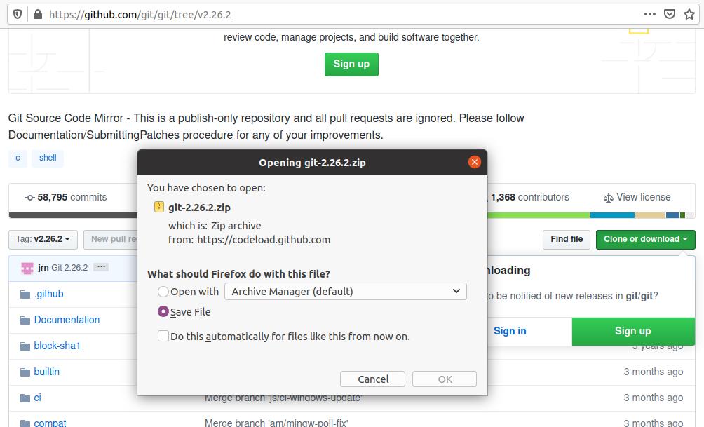 Install Git on Ubuntu 20.04 LTS - Save