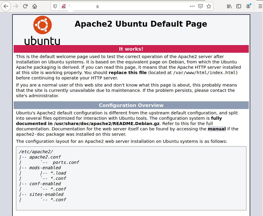 Install Apache2 On Ubuntu 20.04 LTS - Home Page