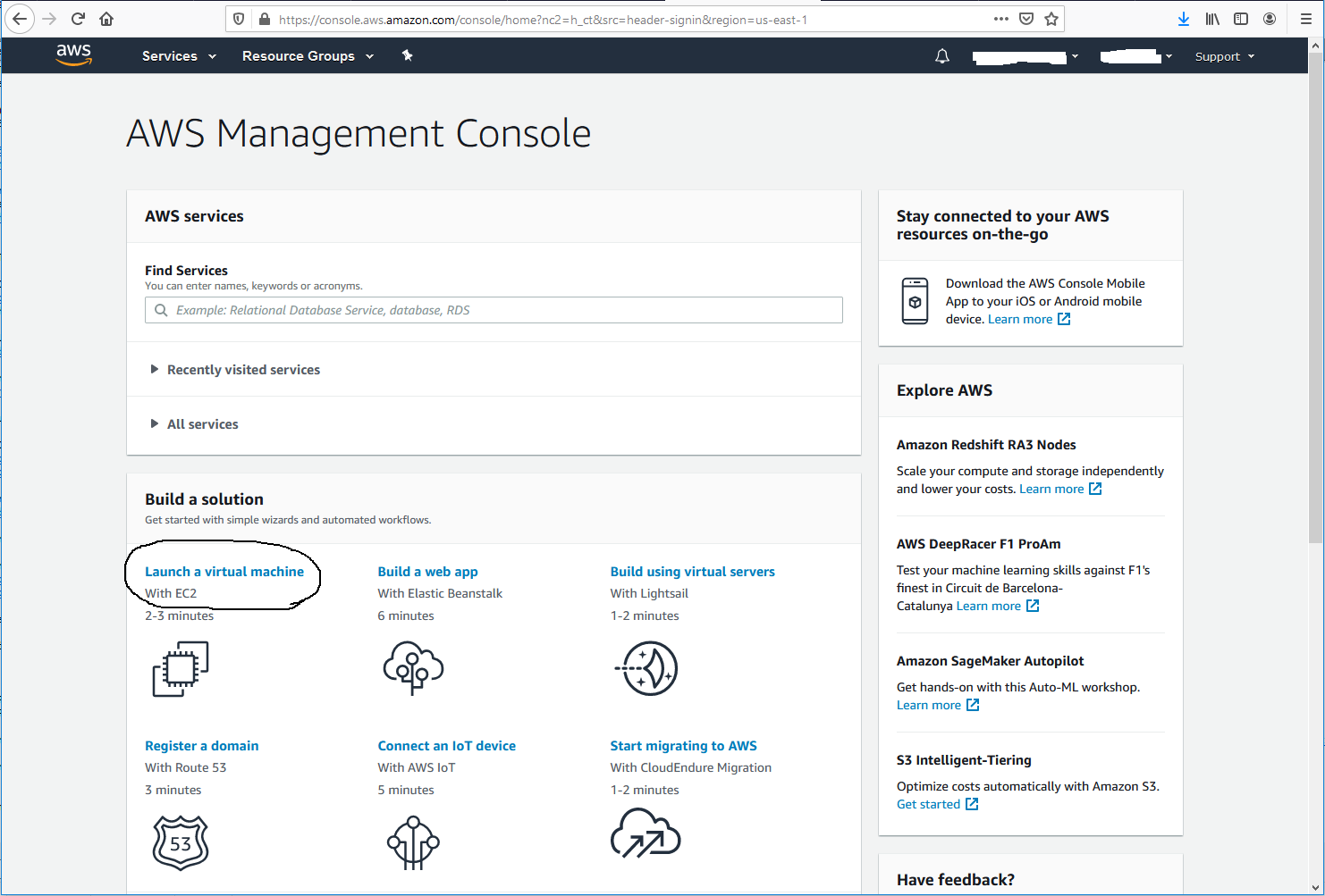 Ubuntu 20.04 LTS On AWS EC2 - AWS Console Home
