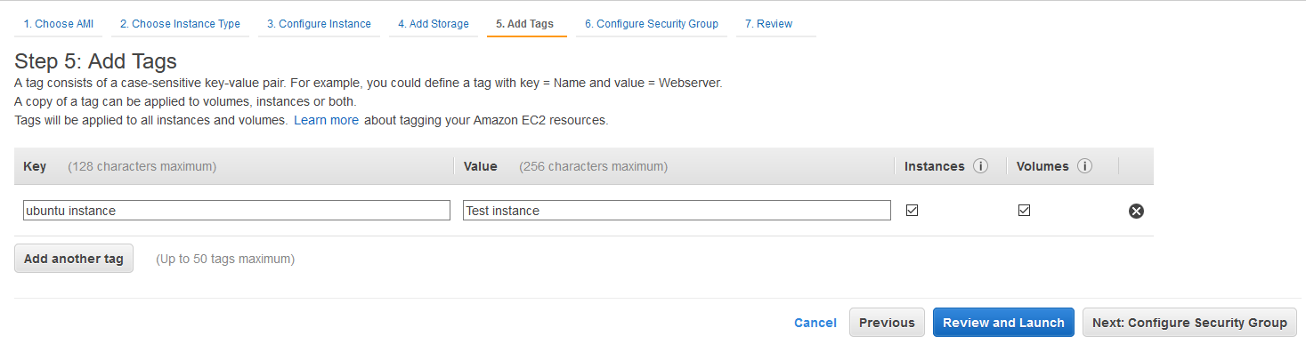 Ubuntu 20.04 LTS On AWS EC2 - Tags