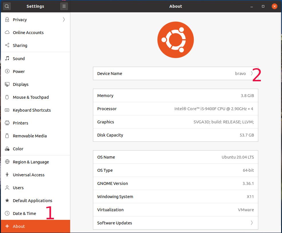 Ubuntu 20.04 LTS - About
