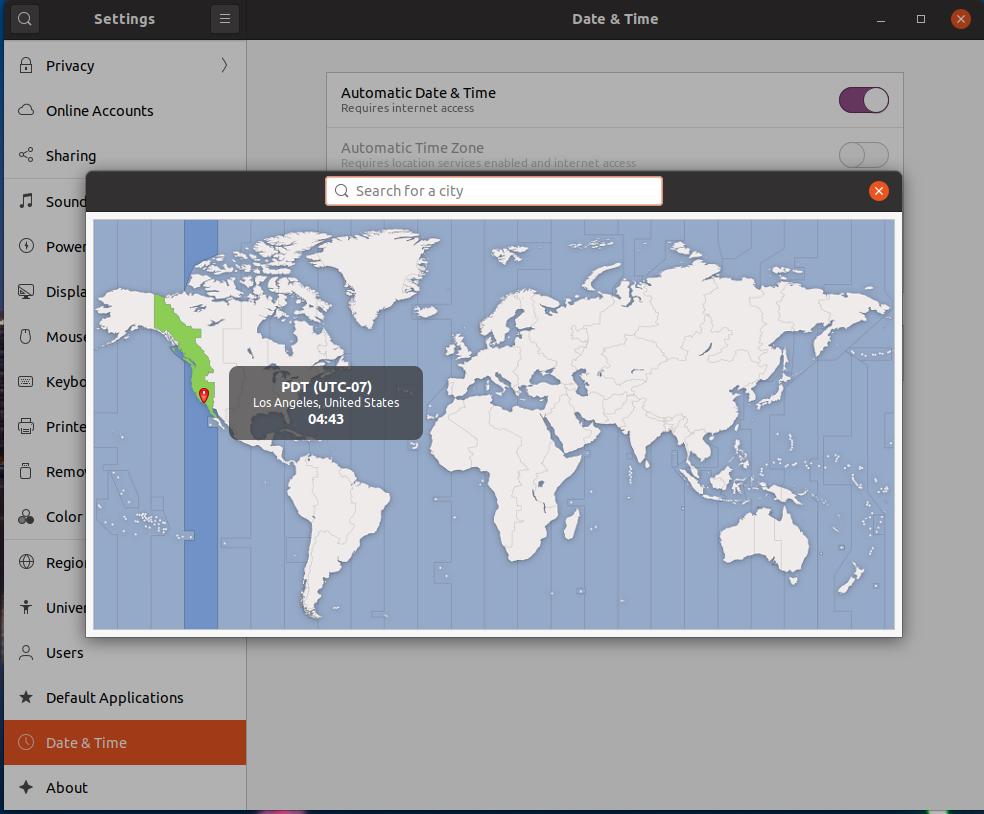 Ubuntu 20.04 LTS - Change Timezone