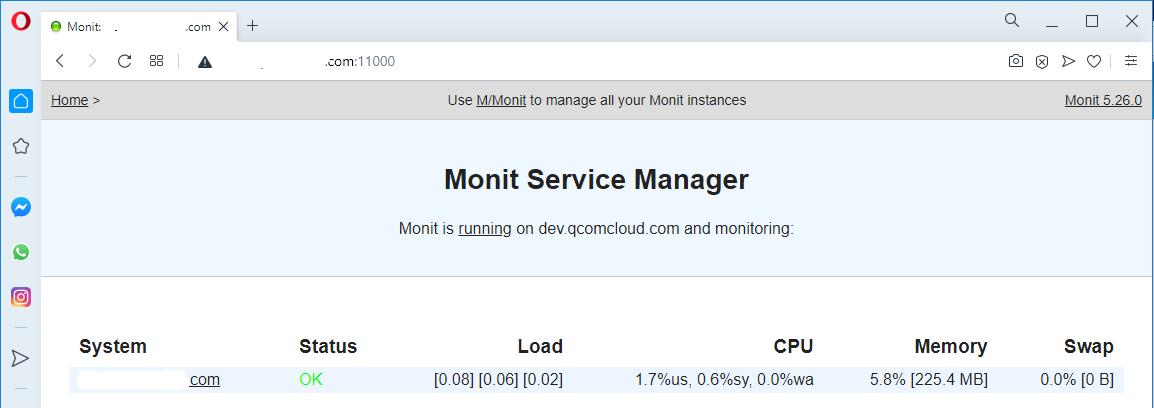 Monit On Ubuntu 20.04 LTS - Remote Access