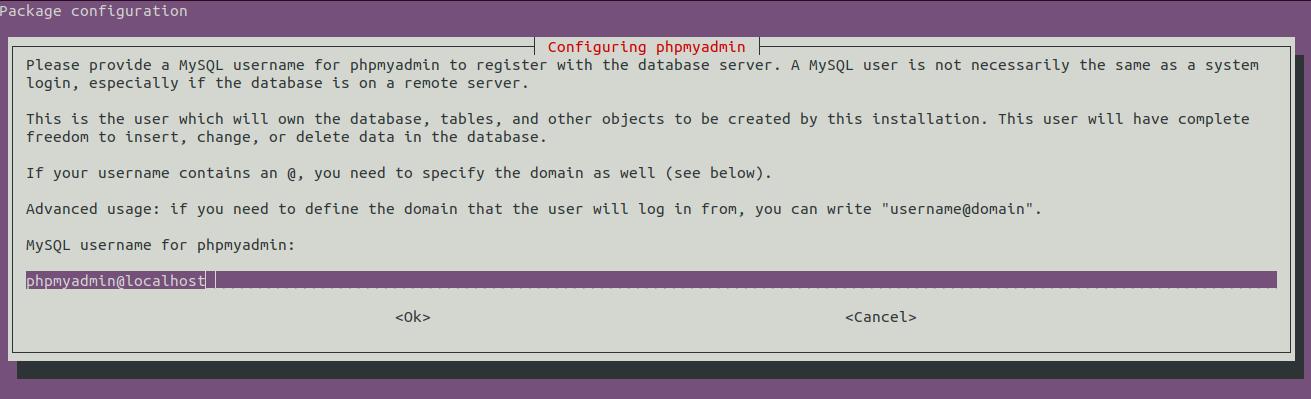 Install phpMyAdmin On Ubuntu 20.04 LTS - Database Username
