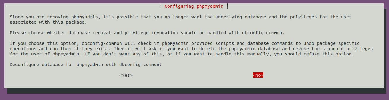 Install phpMyAdmin On Ubuntu 20.04 LTS - Uninstall