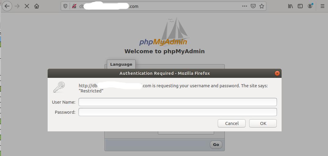 Install phpMyAdmin On Ubuntu 20.04 LTS - Password Prompt