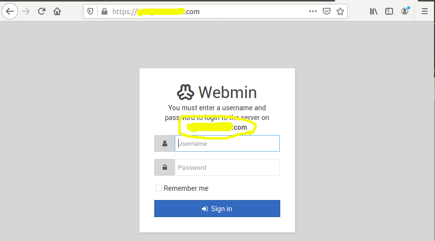 Install Webmin With Apache On Ubuntu 20.04 LTS - Hostname