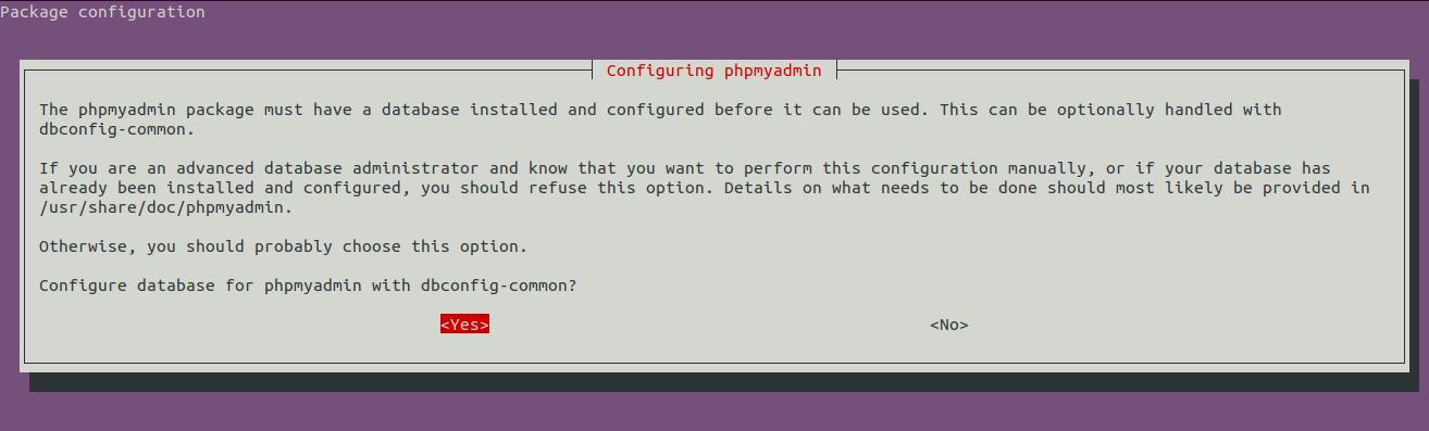 LAMP Server - Ubuntu 20.04 LTS - phpMyAdmin - Database