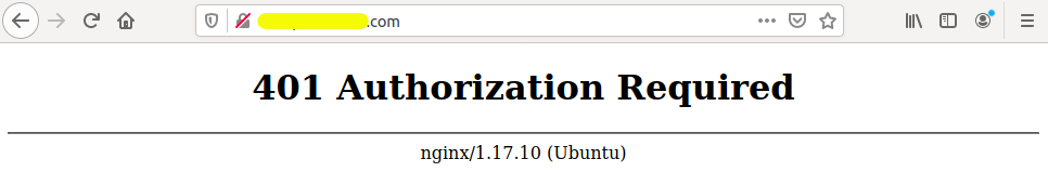 HTTP Basic Authentication - Nginx - Auth Error