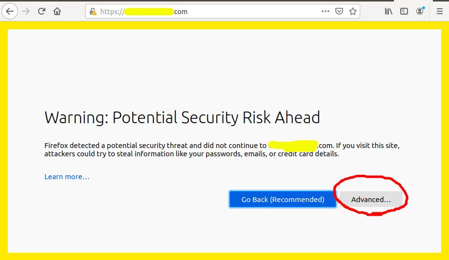Install Self-Signed SSL Certificate On Ubuntu 20.04 - Apache - Warning