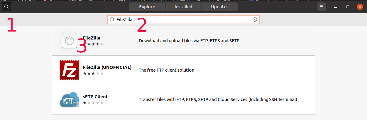 Install FileZilla On Ubuntu 20.04 LTS - Search FileZilla