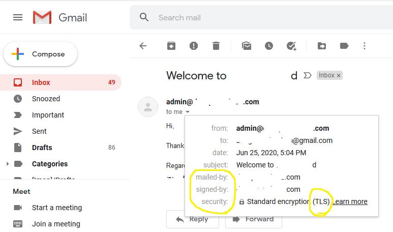 DKIM Testing - Gmail - Ubuntu 20.04 LTS