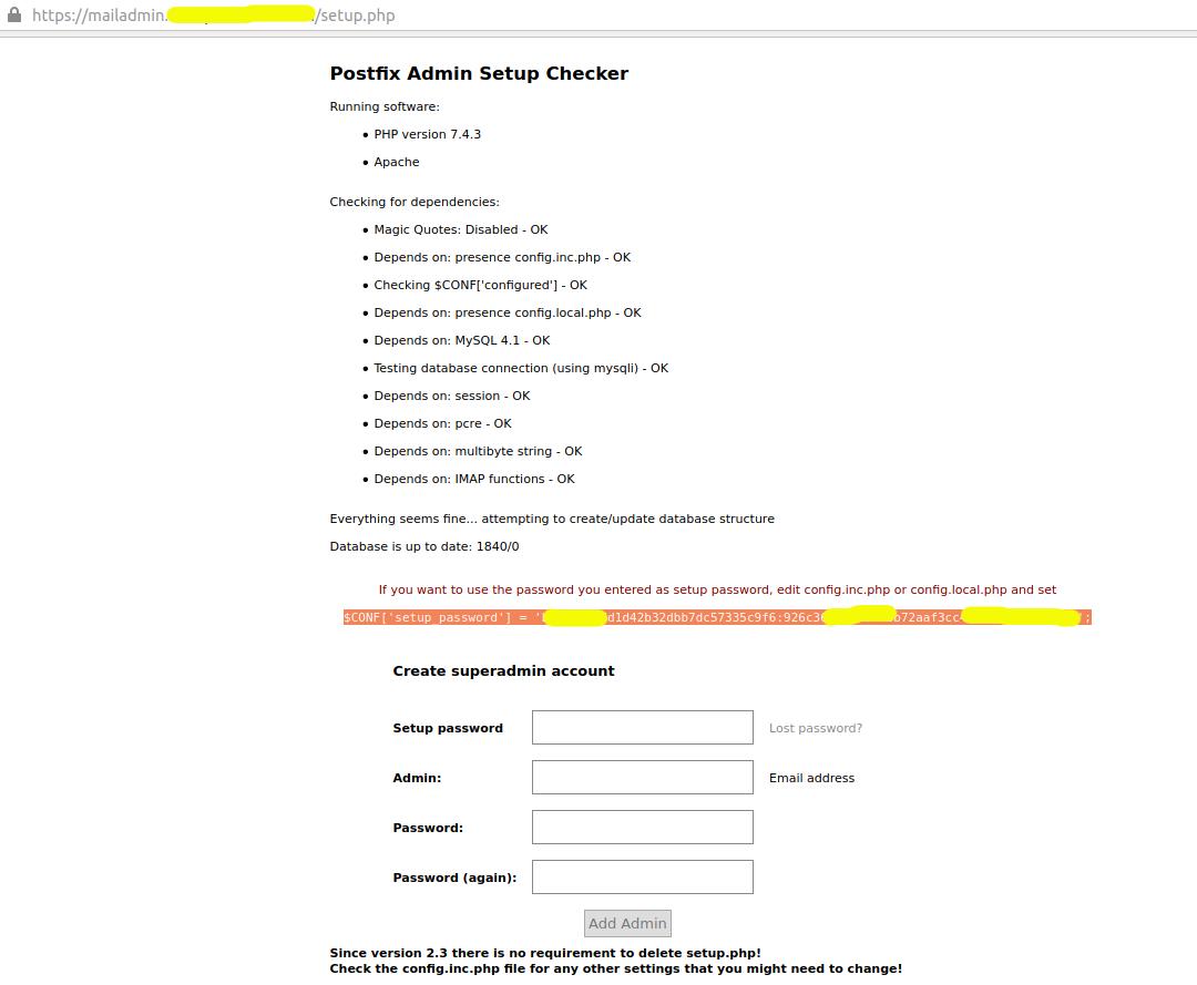 Install Postfix Admin On Ubuntu 20.04 LTS - Super Admin