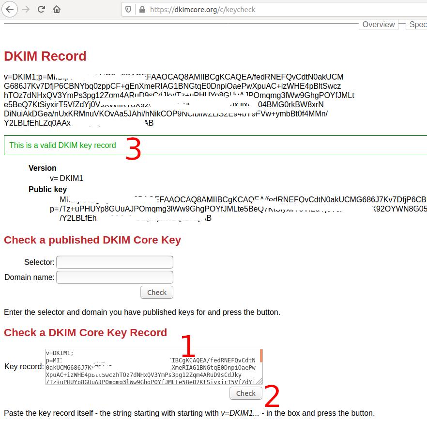 Verify DKIM Record - Ubuntu 20.04 LTS