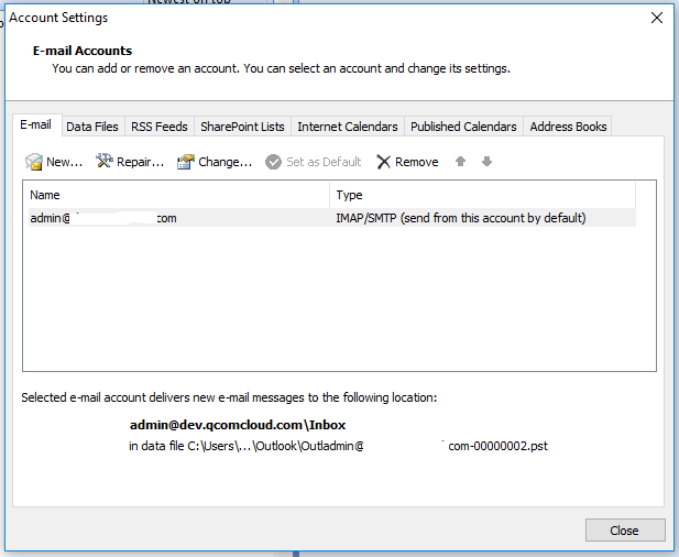 Outlook Autodiscover - Add Email Account - Account Settings