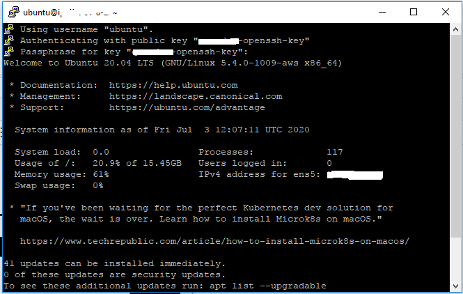 Remote Connection To MySQL Over SSH Tunnel - Putty - Connected
